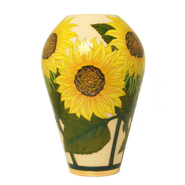 Dennis Chinaworks Sunflower Yellow on White Ovoid 14
