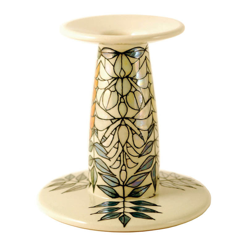 Dennis Chinaworks Wisteria Ivory lustre Candlestick 6