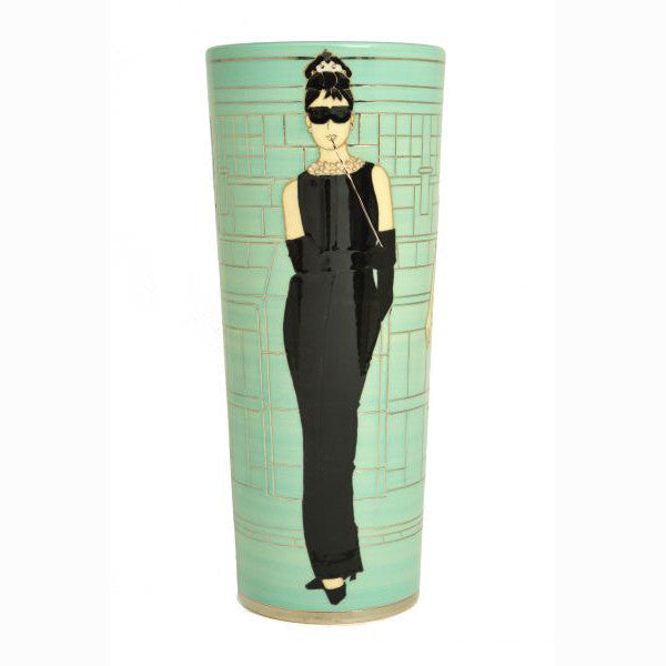 "Dennis Chinaworks Little Black Dress 12"" Spill Vase Edition of 20 - uk-art-pottery-test-site"