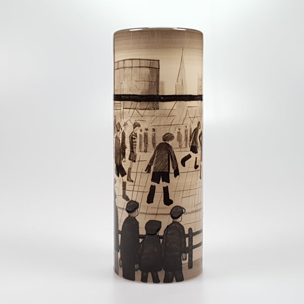 "Lowry ""The Football Match"" Limited edition vase"