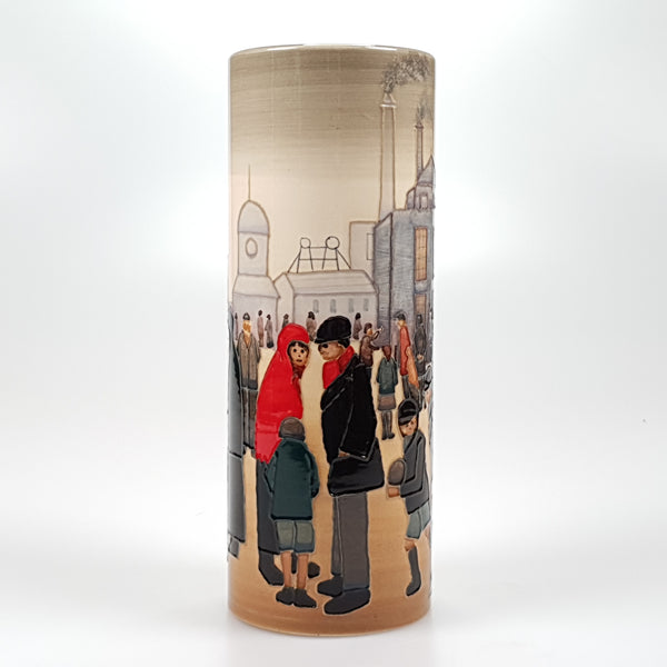 "Lowry ""Salford street scene"" Limited edition vase"