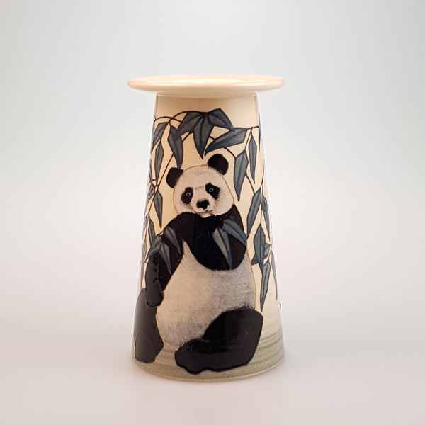 "Dennis Chinaworks Panda Bear Small conical vase ""7 - uk-art-pottery-test-site"