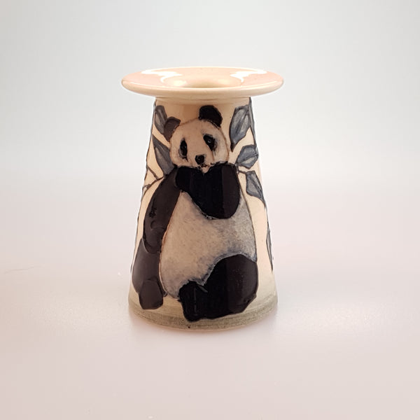 Dennis Chinaworks miniature Panda Bear conical vase - uk-art-pottery-test-site