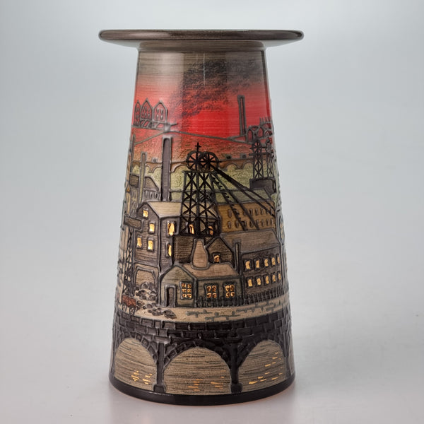 New Dennis Chinaworks Industrial vase designed by Sally Tuffin