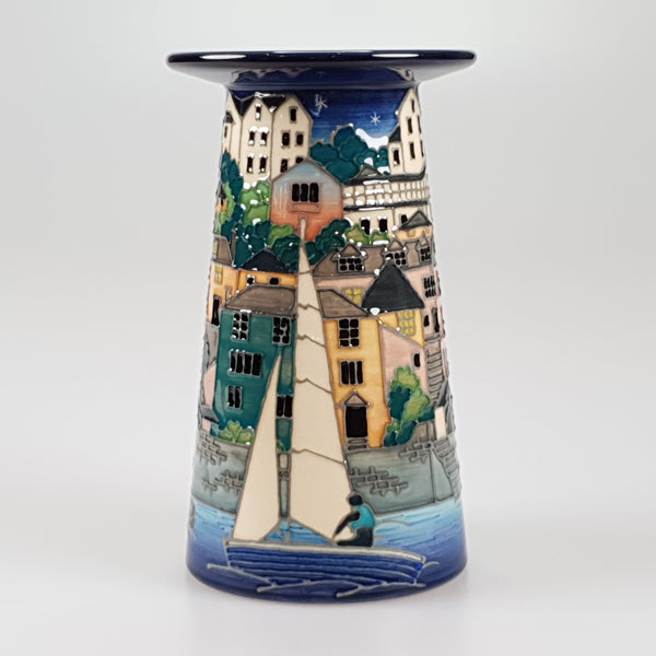 Dennis Chinaworks Salcombe Night Small Conical vase edition of 15 - uk-art-pottery-test-site