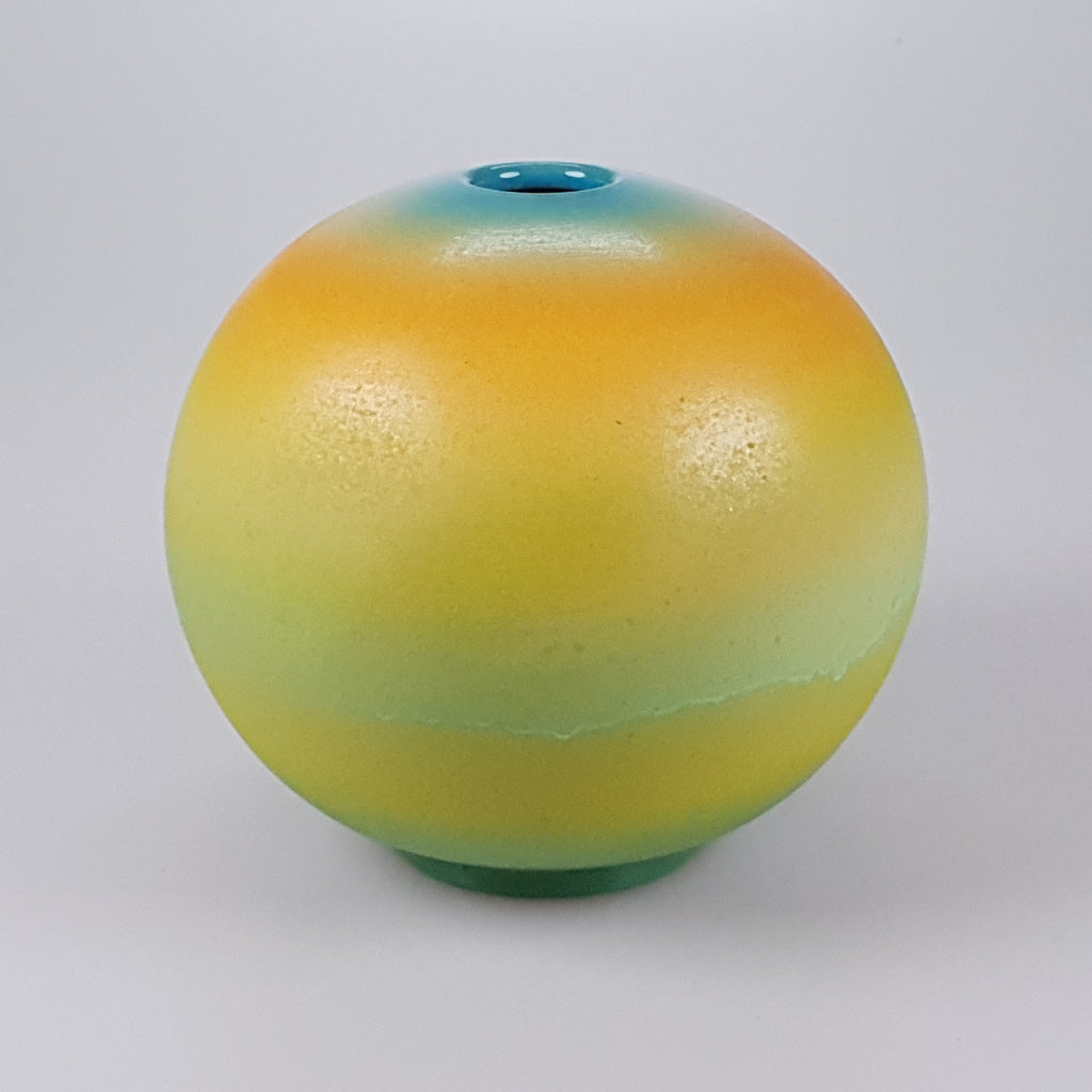 "Painted 7"" Sphere vase designed by Buchan Dennis for the Dennis Chinaworks 2"