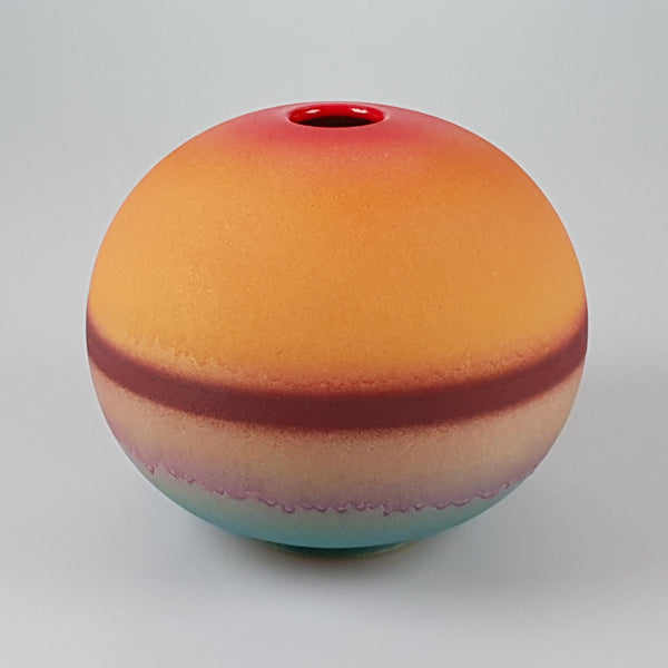"Painted 7"" Sphere vase designed by Buchan Dennis for the Dennis Chinaworks 3"