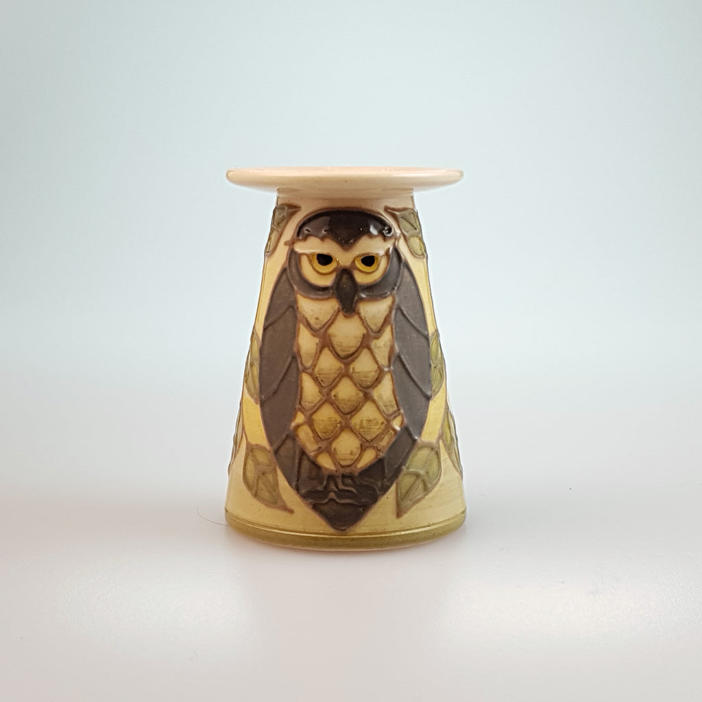Dennis Chinaworks miniature Owl vase - uk-art-pottery-test-site