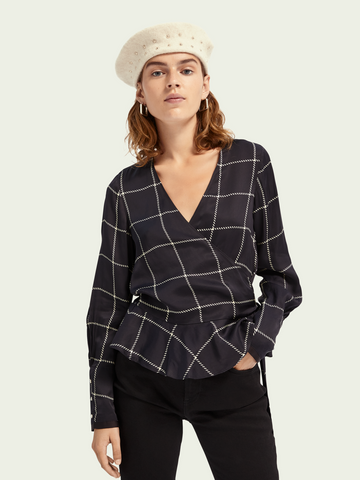 Maison Scotch Wrap Blouse