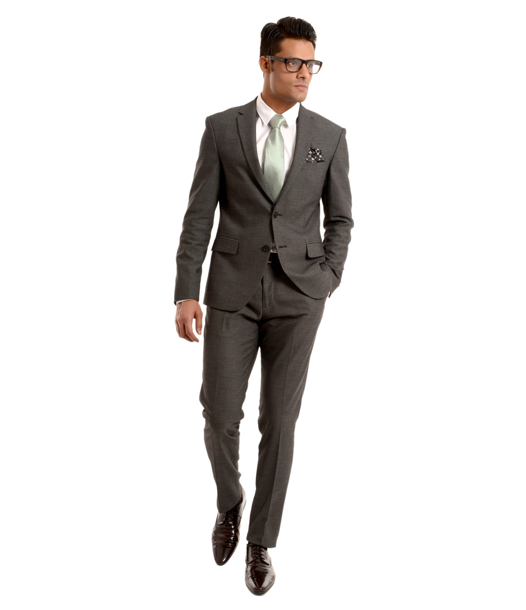 Two button tailored suit with shirt