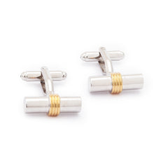 Steel Gold Cufflinks