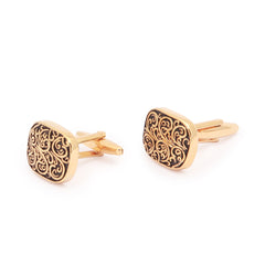 Fancy Gold Black Cufflinks