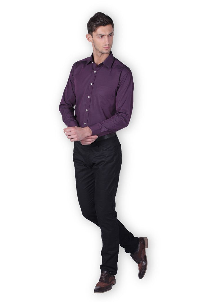 DK Purple Full Sleeve Cotton Shirt