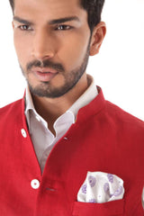 Royal Red Linen Waist Coat