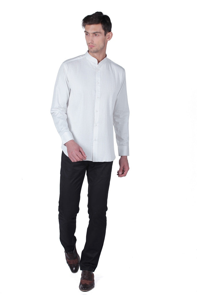 Men's Cotton Satin Shirt