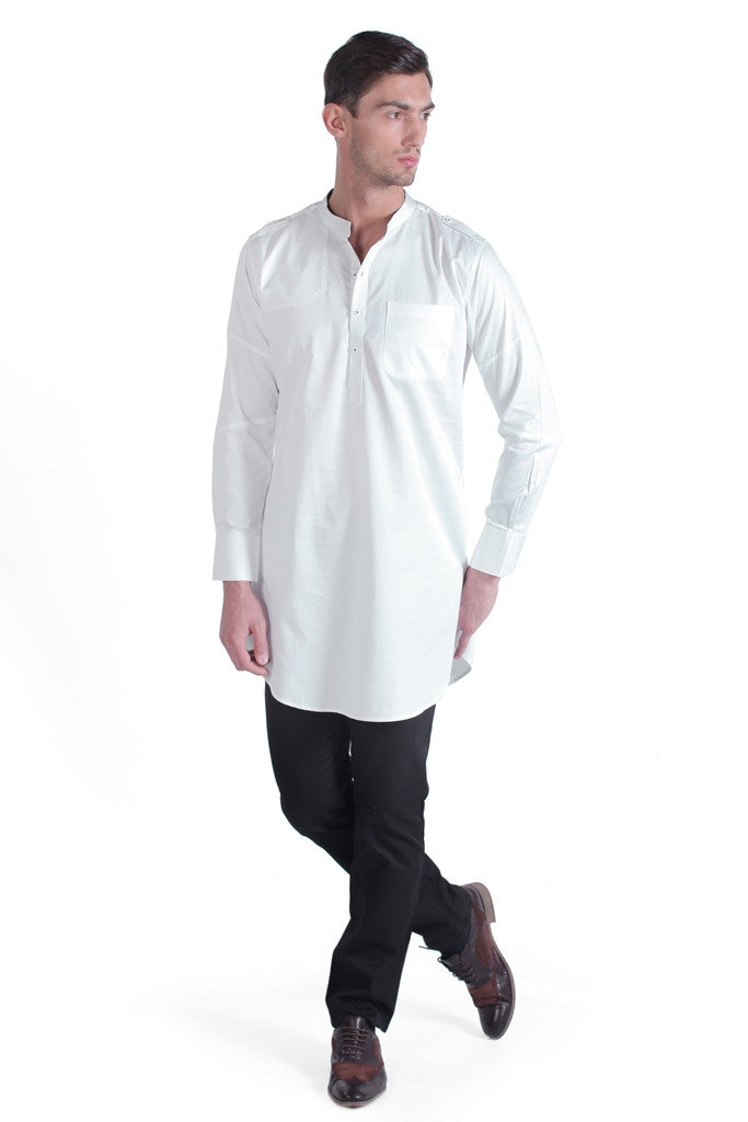 Men's Cotton Satin Silk Kurta