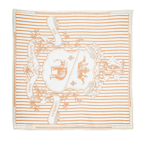 Imperial Crest Print Pocket Square