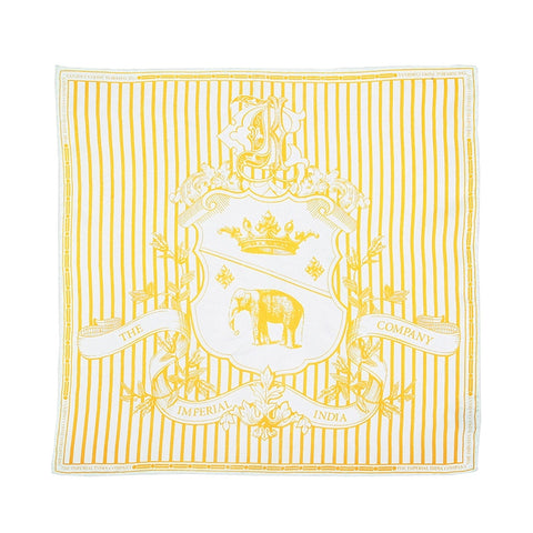 Yellow Stripped Pocket Square
