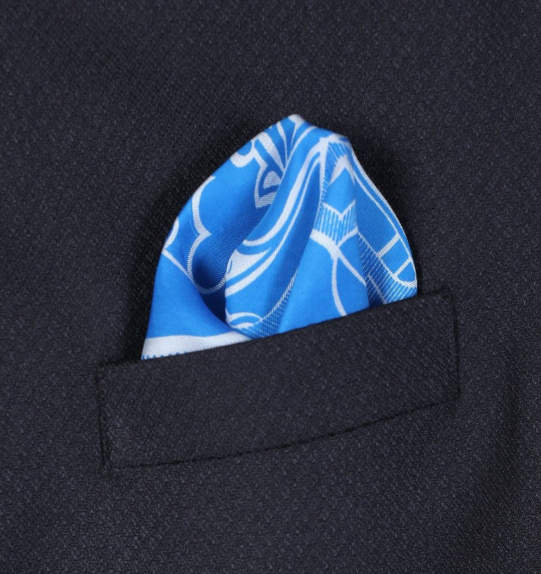 Fancy Print Pocket Square