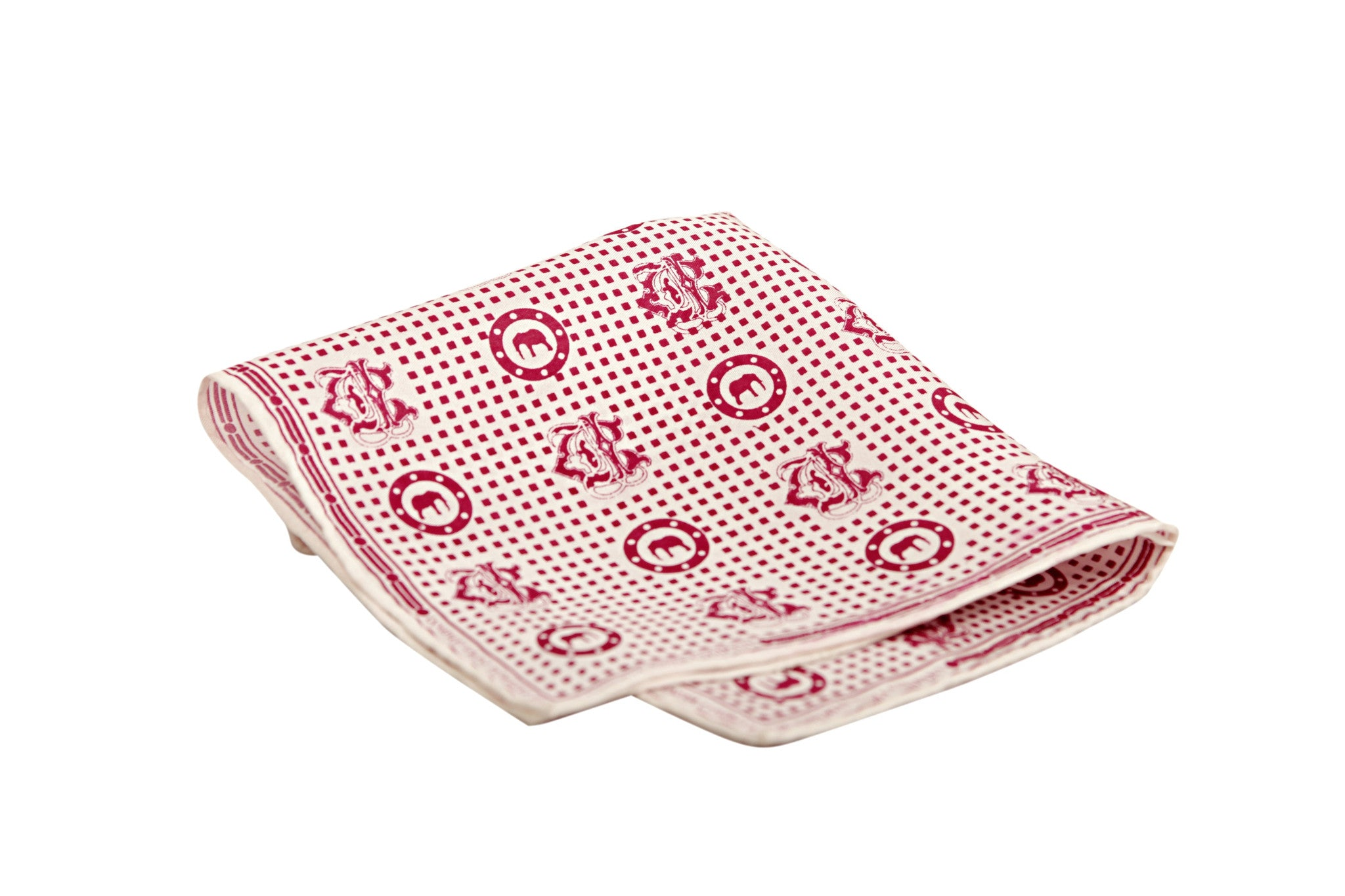 Red Twill Silk Pocket Square