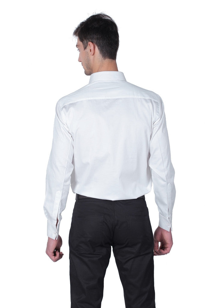 Men's Cotton White Antonio Full Sleeve Shirt