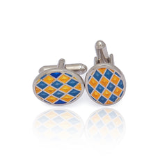 Blue & Yellow Cufflinks
