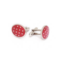 Cherry Red Cufflinks