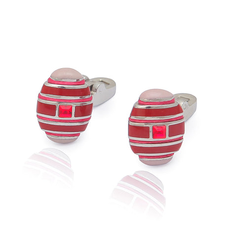 Steel Red Cufflinks