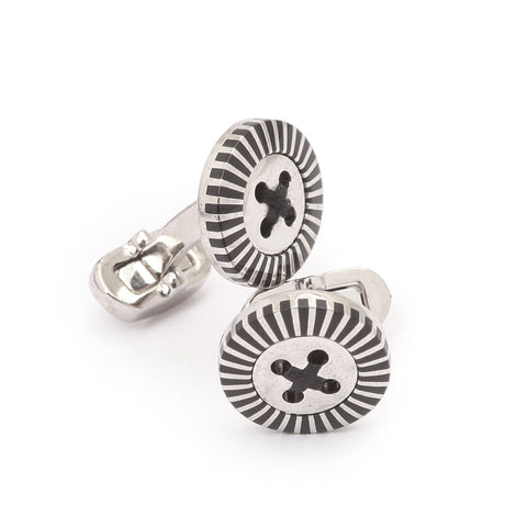 Steel Black Cufflinks