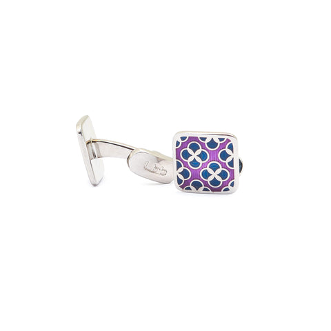 Purple Pink Square Cufflinks