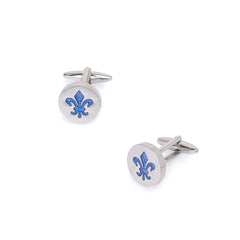 Steel Blue Cufflinks
