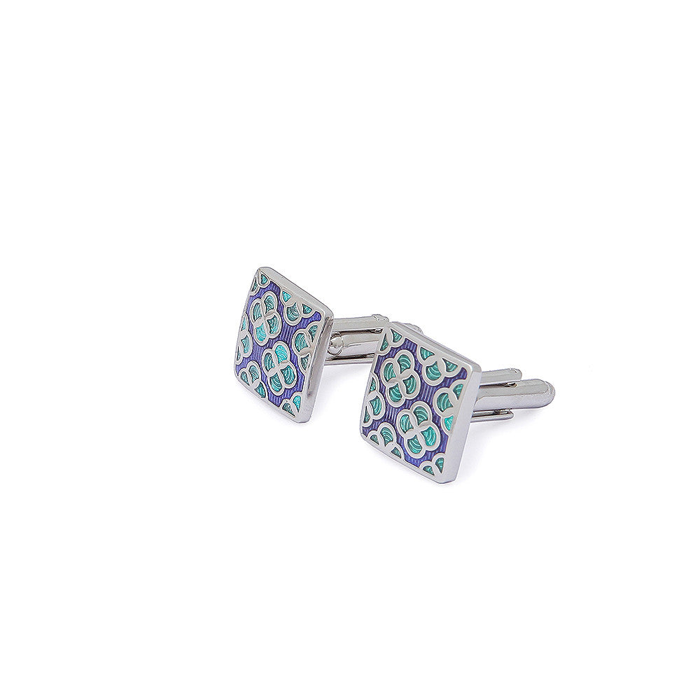 Purple Green Cufflinks