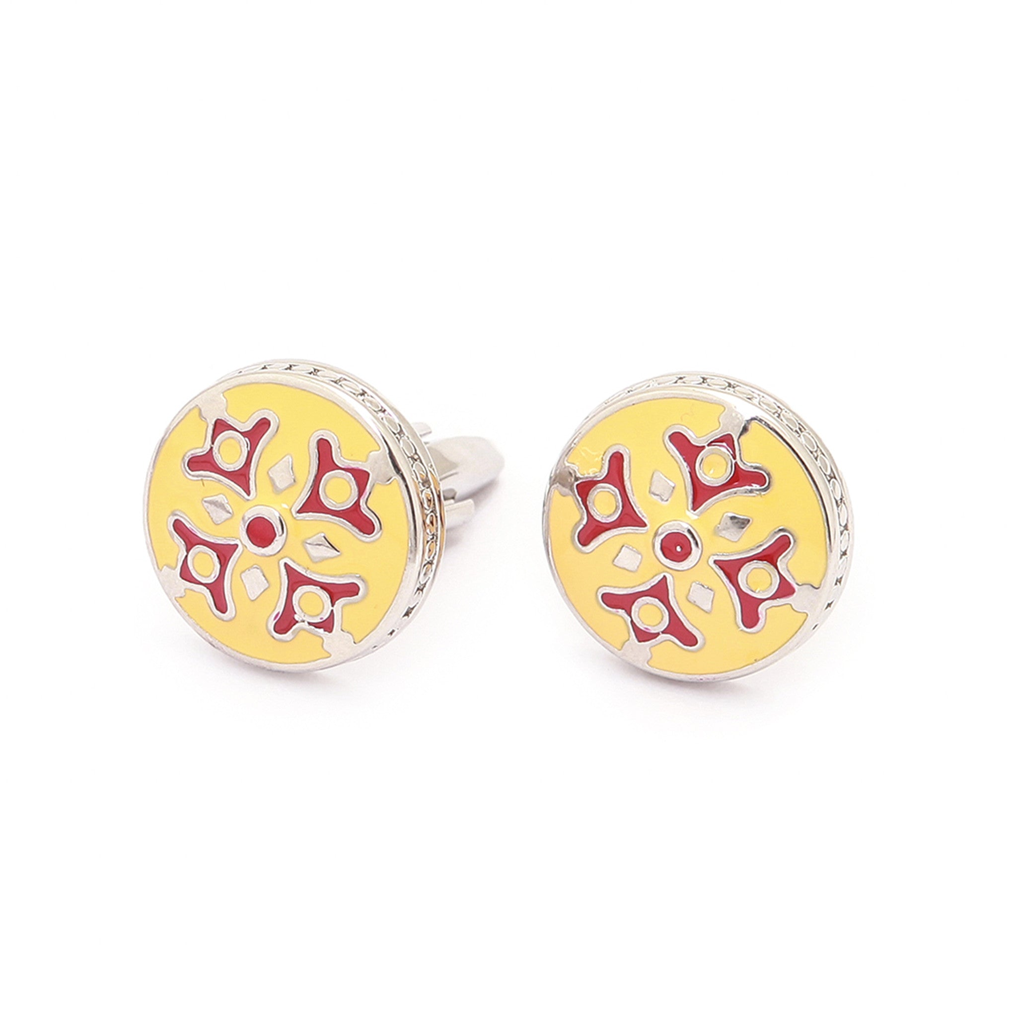 Yellow Red Cufflinks