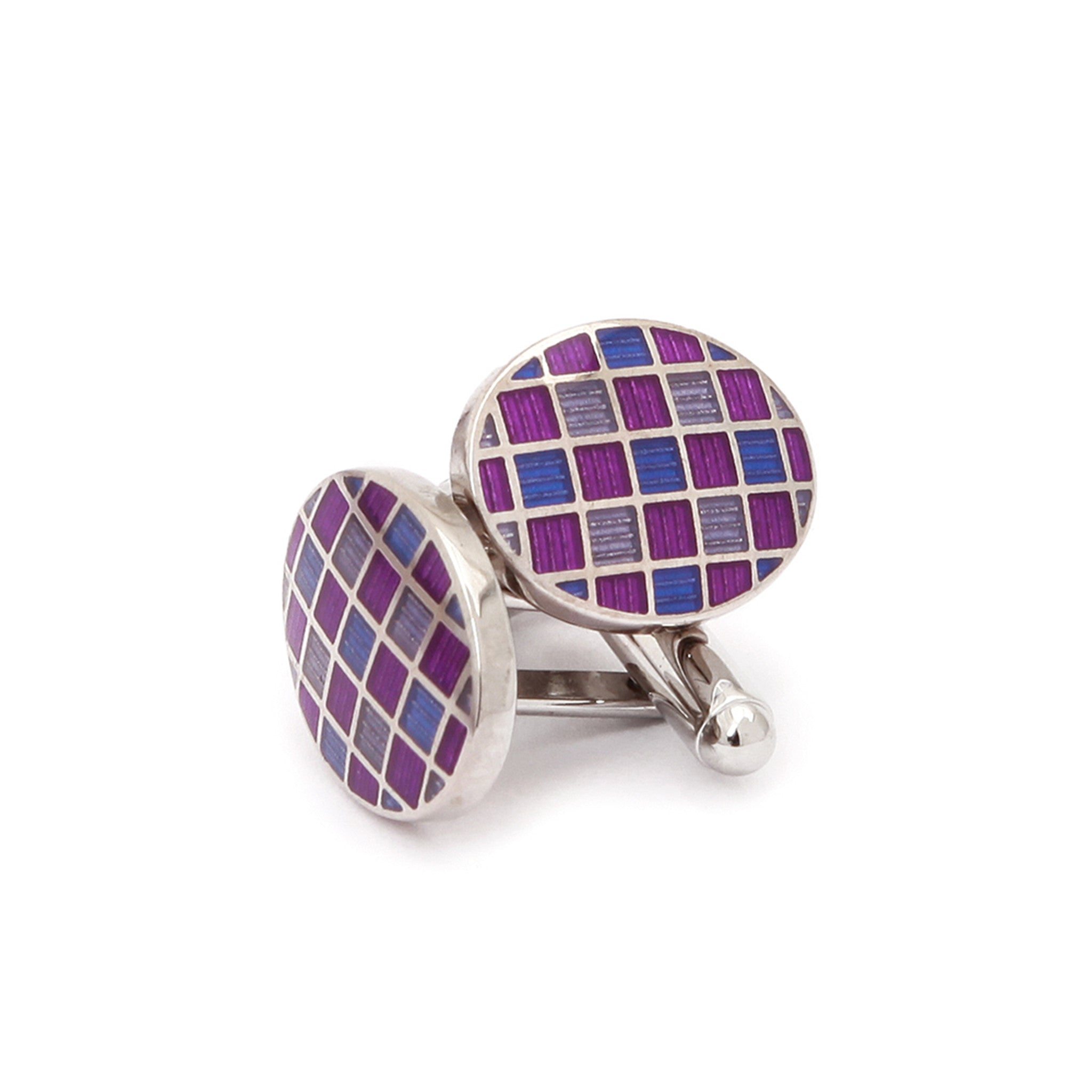 Fancy Purple & Pink Cufflinks