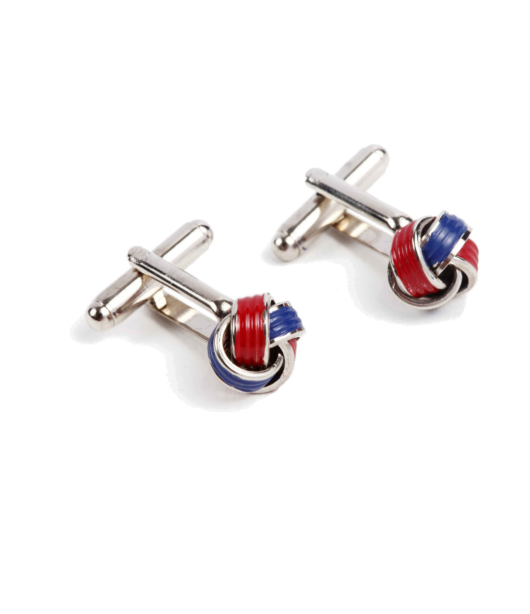 Imported red and blue cufflinks