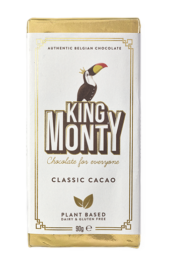King Monty Classic Cacao Plant Based Chocolate (90g)