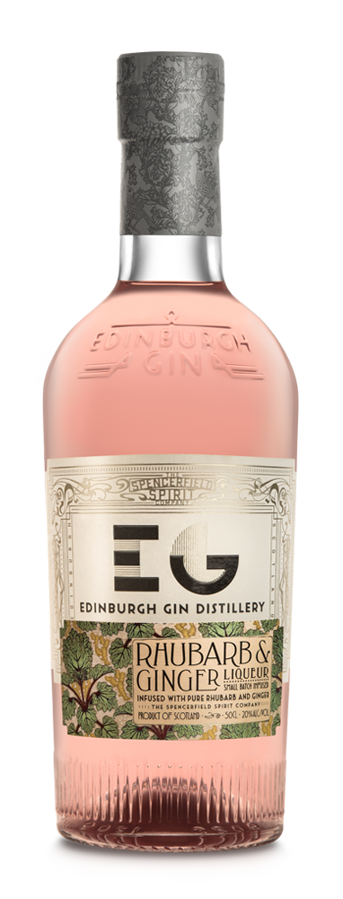 Edinburgh Rhubarb & Ginger Fruit Liqueur - 50cl