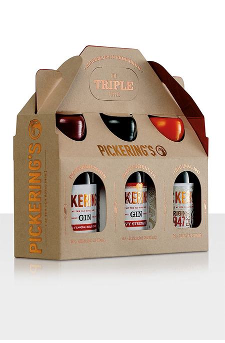 Pickering's Tripple Tipple Gift Pack - 3 x 5cl