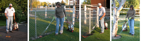 Flame Engineering propane torches for organic weed control