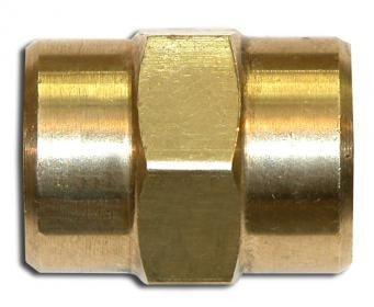 "#F-322 Hex Coupling 1/4"" FPT x 1/4"" FPT"
