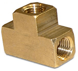 "#F-522 1/4"" FPT x 1/4"" FPT x 1/4"" FPT Brass Tee"