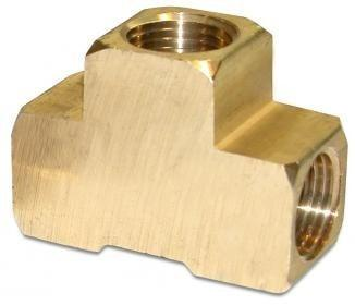 "#F-544 1/2"" FPT x 1/2"" FPT x 1/2"" FPT Brass Tee"