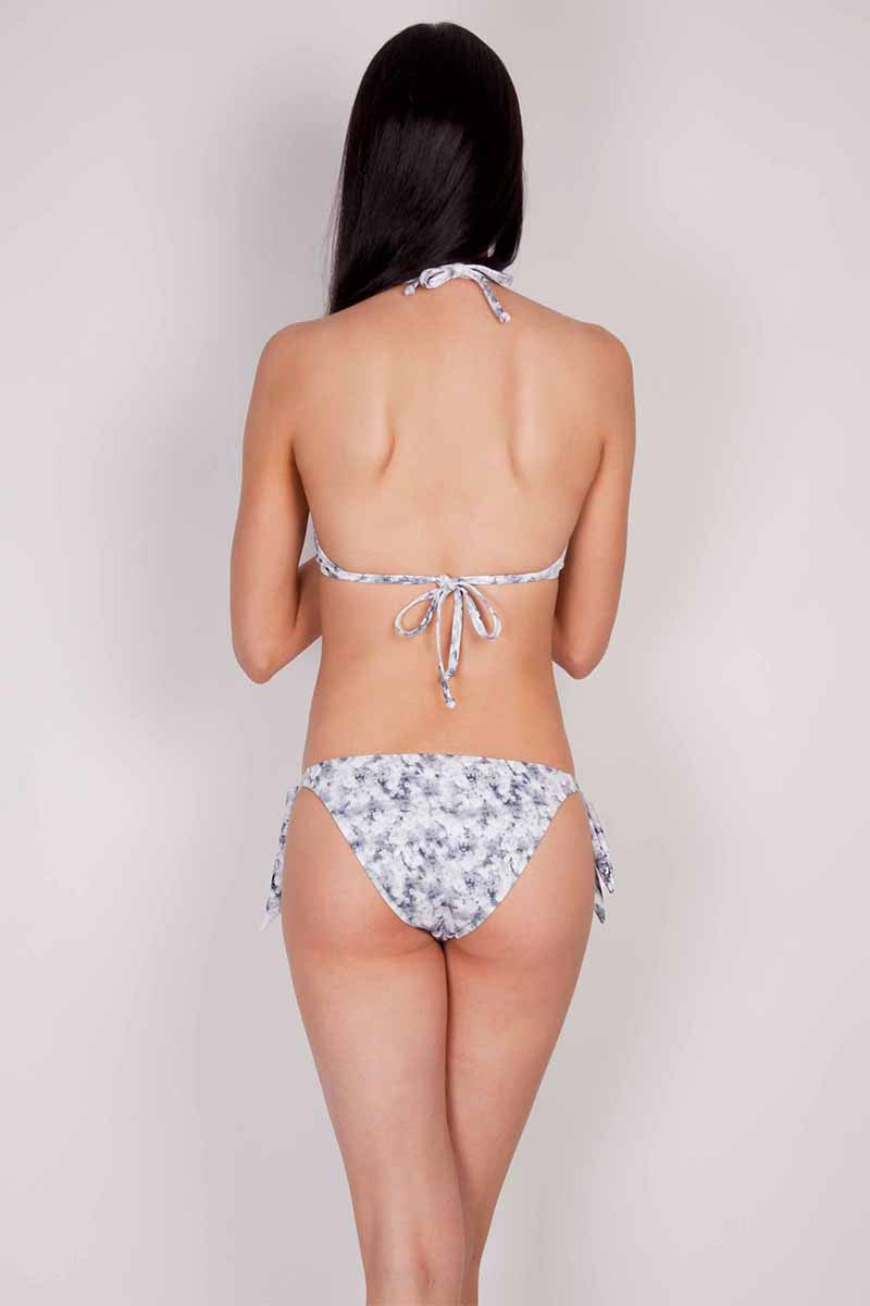 GRAY WILD FLORAL PUSH UP TOP
