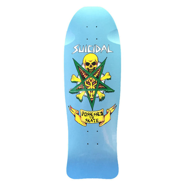 SOLD OUT - Suicidal Skates - LIMITED EDITION Possessed To Skate Deck - Metallic Sky Blue (Shipping Charges Included)