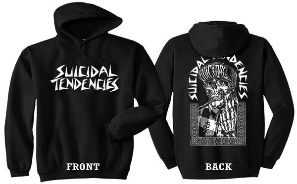 Suicidal Tendencies Hoodie - ST One Finger pullover Sweatshirt