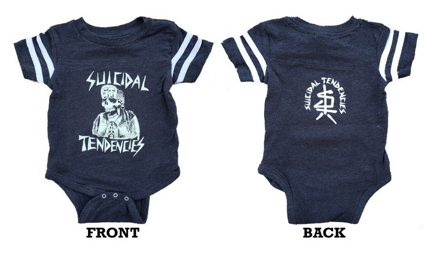 0f6b63d54 Infant Football Bodysuit Onesie - Glow In The Dark – Suicidal Tendencies  Merchandise STore