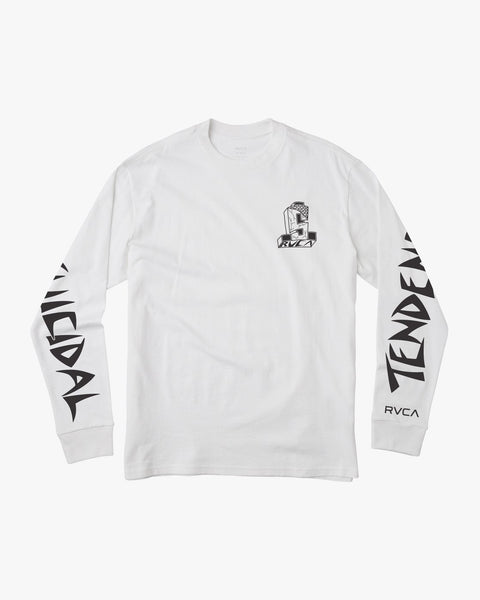 RVCA x SUICIDAL Collaboration Longsleeve + FLS Sticker and Suicidal Skates Stickers