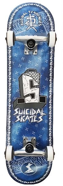 Suicidal Skates - Bandana Popsicle Complete Skateboard + Bandana and Poster (Shipping Charges Included)