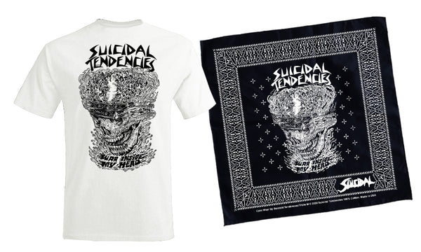 Suicidal Tendencies War Inside My Head T-Shirt Bandana Combo