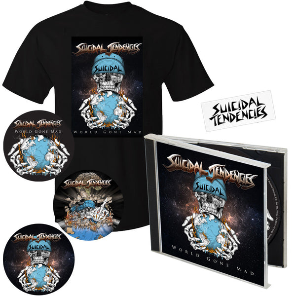 WORLD GONE MAD - T-SHIRT CD COMBO